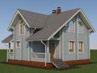 Проект дома из профилированного бруса Д-128
