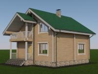 Проект дома из профилированного бруса Д-122