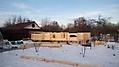 Баня из профилированного бревна в Тверской обл. :: Баня из профилированного бревна диаметром 240 мм.
